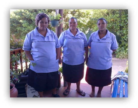The ladies behind the scenes, cooking your breakfast and making sure that our guesthouse is kept in prime condition.